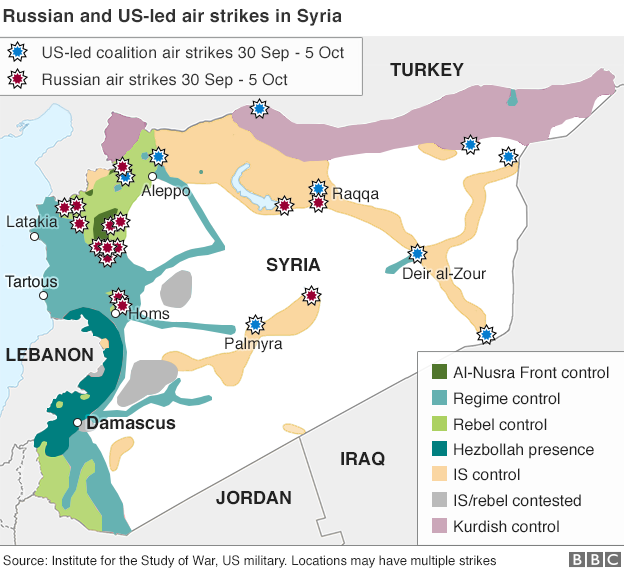 syria_us_russian_airstrikes_BBC